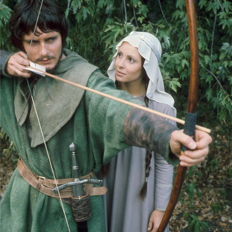 Martin Potter as Robin Hood and Diane Keen as Maid Marian in 1975