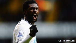 Emmanuel Adebayor of Tottenham