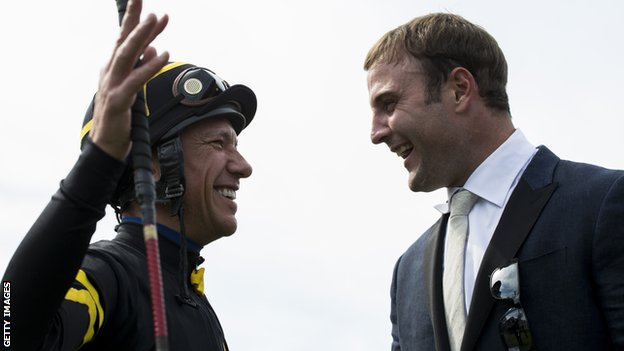 NFL star Wes Welker and jockey Frankie Dettori