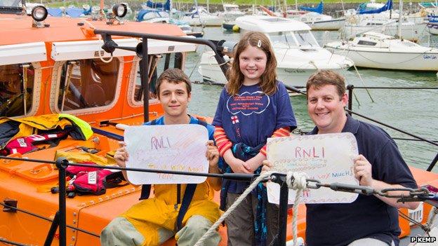 Tom Evans, Eira and Ben Billingham
