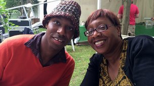 Birmingham's Shabaka Hutchings and his mum
