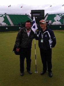 Nick Hatfield at the Open