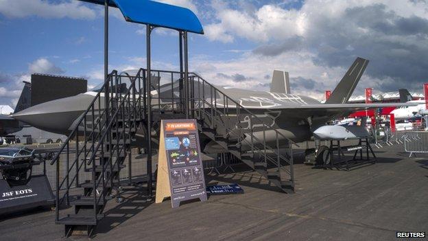 F-35B mock-up