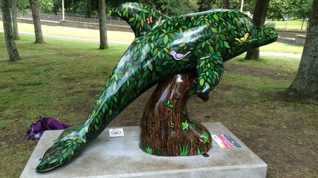 dolphin art work