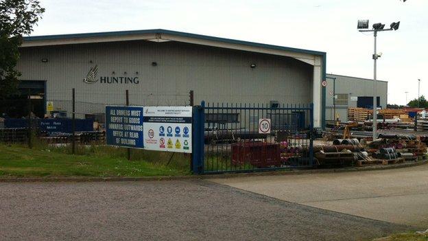 Hunting Oilfield Services in Portlethen