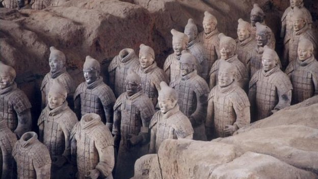 Terracotta warriors, discovered in Shangshi province, China