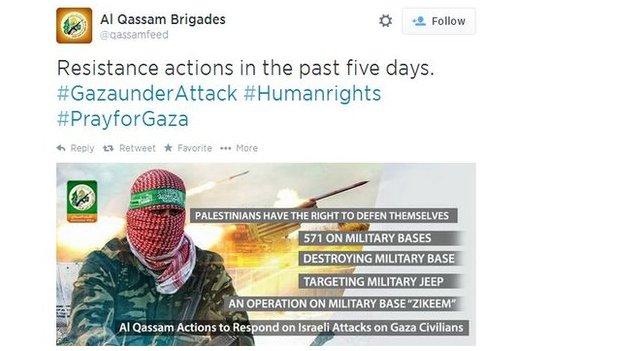 Hamas tweet