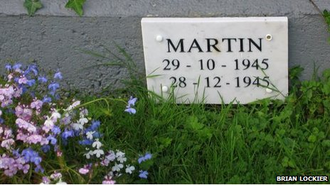 Infant grave, Sean Ross Abbey, Co Galway (courtesy of Brian Lockier)