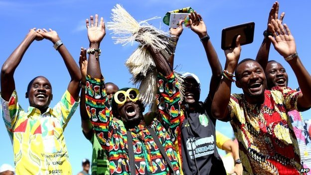 Ghana sent an official delegation of about 650 fans to Brazil