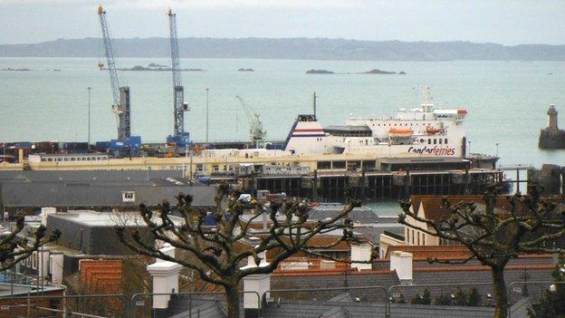 Condor Ferry in St Peter Port Harbour