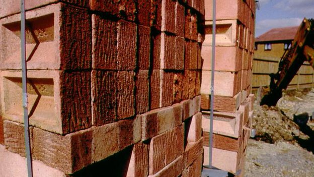 Bricks on a building site