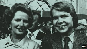 Margaret Thatcher and William Hague 1977