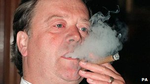 Ken Clarke smoking a cigar in 1996