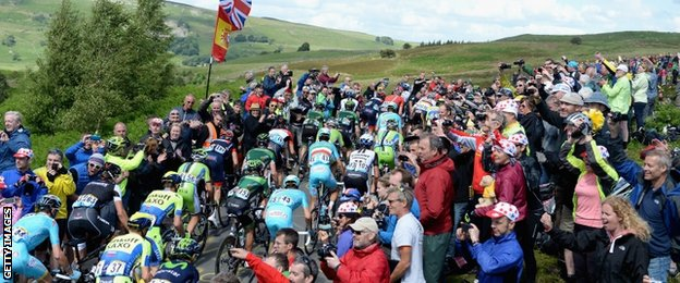 Supporters flocked to the Yorkshire Dales in their hundreds of thousands to watch the Tour cycle past