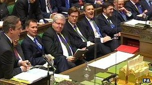 Government front bench in February 2014