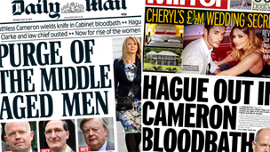 Composite image of Mail and Mirror front pages