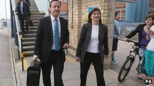 David Cameron and Nicky Morgan
