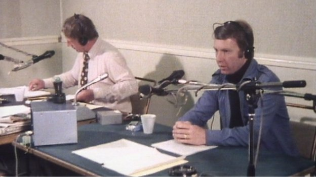 John Milne presenting Good Morning Scotland in 1978
