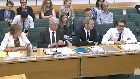 Fiona Reynolds, Tony Hall, James Purnell and Danny Cohen speak to MPs