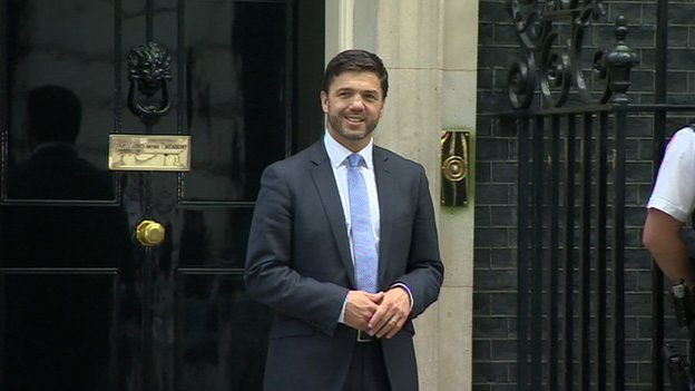 Stephen Crabb outside Downing Street