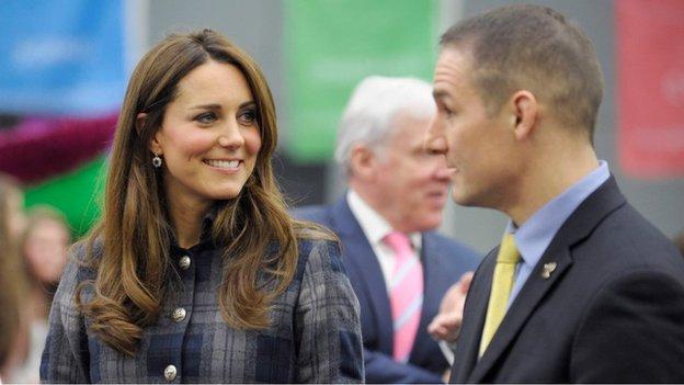 David Grevemberg with the Duchess of Cambridge