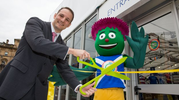 David Grevemberg and Games mascot Clyde