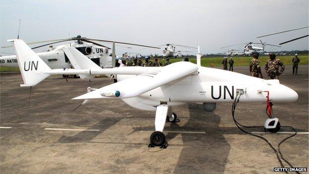 UN surveillance drone