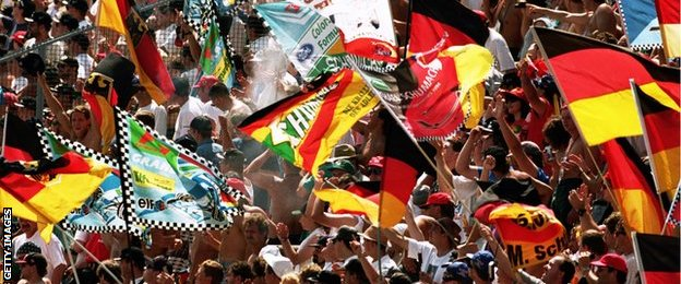 Supporters at the German GP