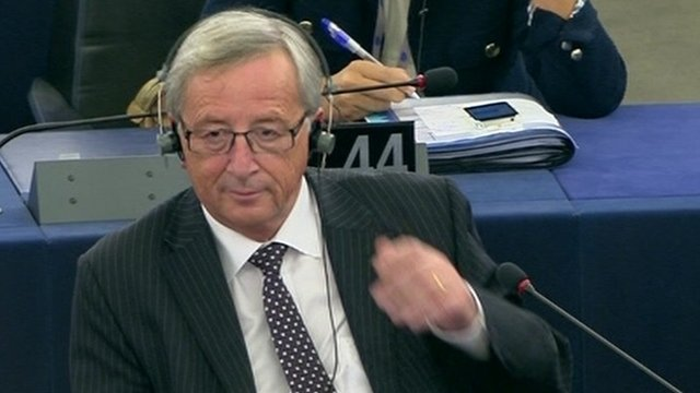 New European Commission president Jean-Claude Juncker