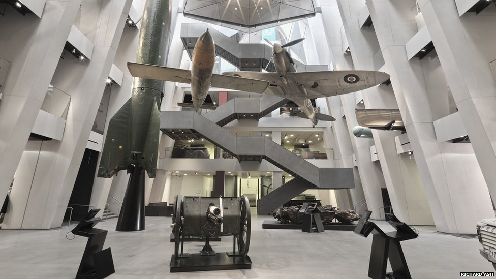 New Imperial War Museum London atrium