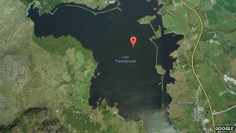 Map of Llyn Trawsfynydd