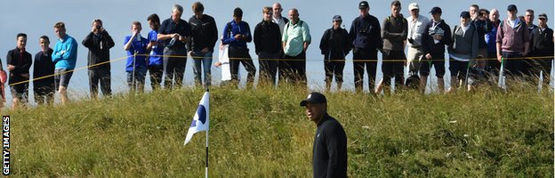 Tiger Woods at Hoylake