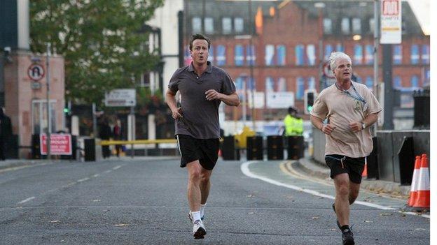 David Cameron (left) and Desmond Swayne (right)