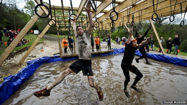 Participants in a Tough Mudder event