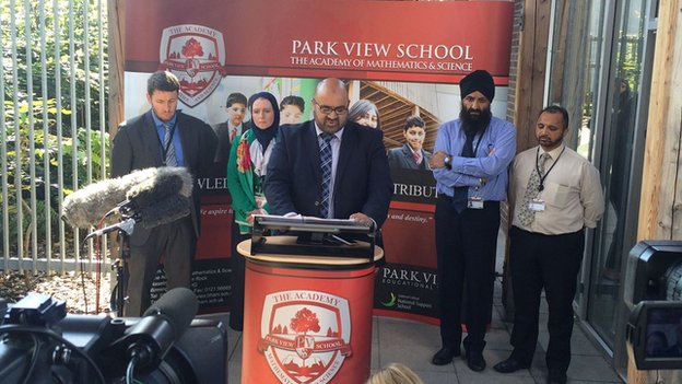 Park View Educational Trust chairman Tahir Alam said the decision had been made in the interests of children.