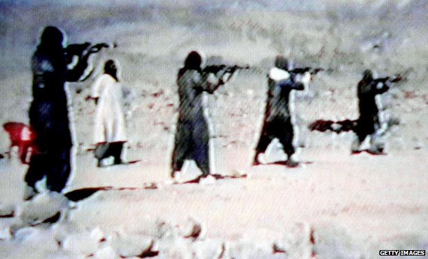 Video grab of an al-Qaeda training camp in Afghanistan, 2001