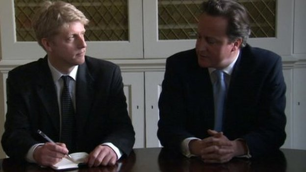 Jo Johnson and David Cameron