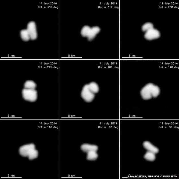 Kometa 67P/Churyumov-Gerasimenko, dvojité jádro