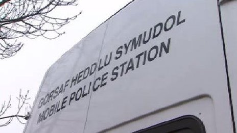 Mobile police station in Dyfed-Powys