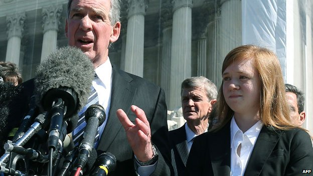 Abigail Fisher with her lawyer
