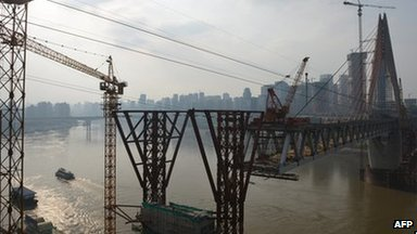 Construction along Yangtze river