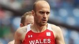 Gareth Warburton competing for Wales