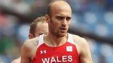 Gareth Warburton competing for Wales
