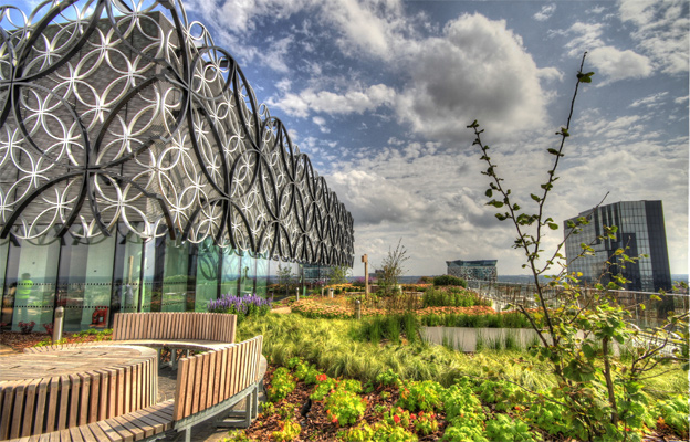 Roof garden at library of Birmingham
