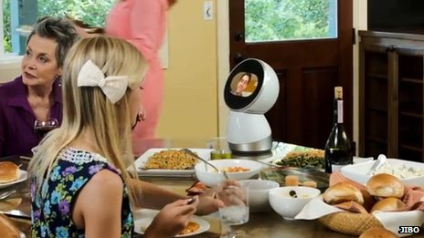 Jibo robot at the dinner table