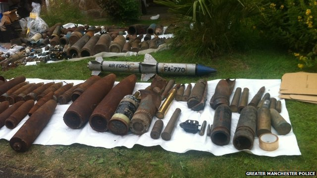 Shells and rockets seized