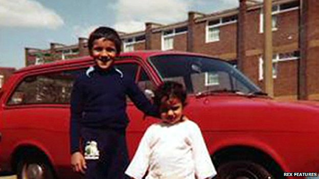 Babar Ahmad aged six, with his younger sister