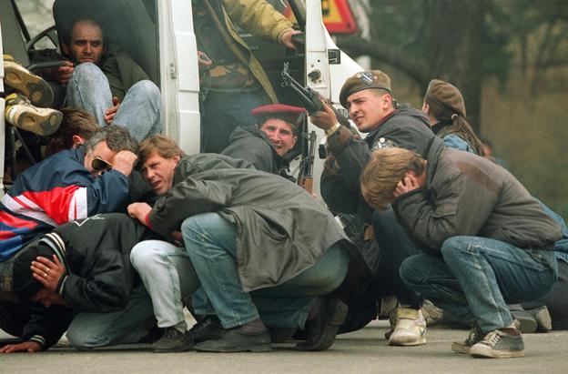 gunfire in Sarajevo