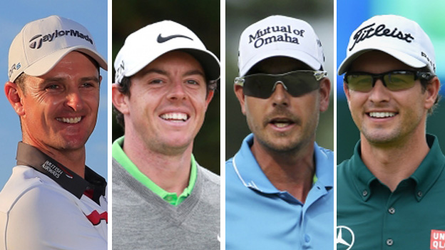 Justin Rose, Rory McIlroy, Adam Scott and Henrik Stenson