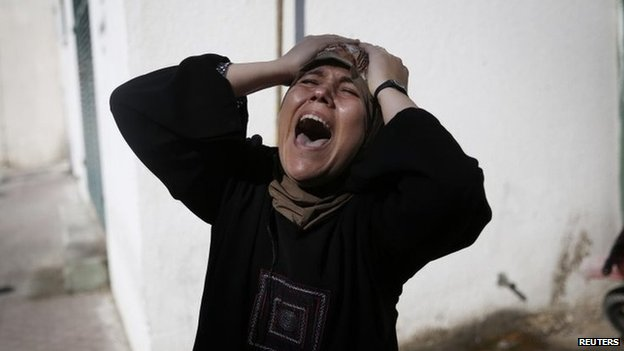 The mother of one of the four Palestinian children killed in Gaza City on 16 July 2014